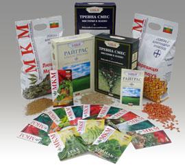 Семена от зеленчукови, цветни и полски култури. Тревни смески